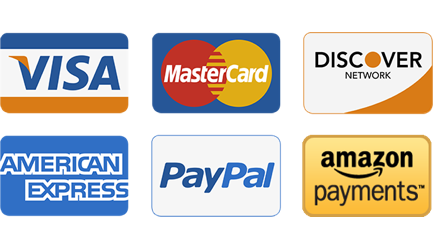 We accept major credit cards through paypal